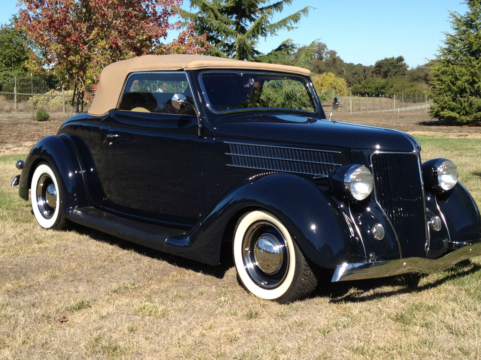1936 Ford Cabriolet Convertible Dark Blue Frame Off