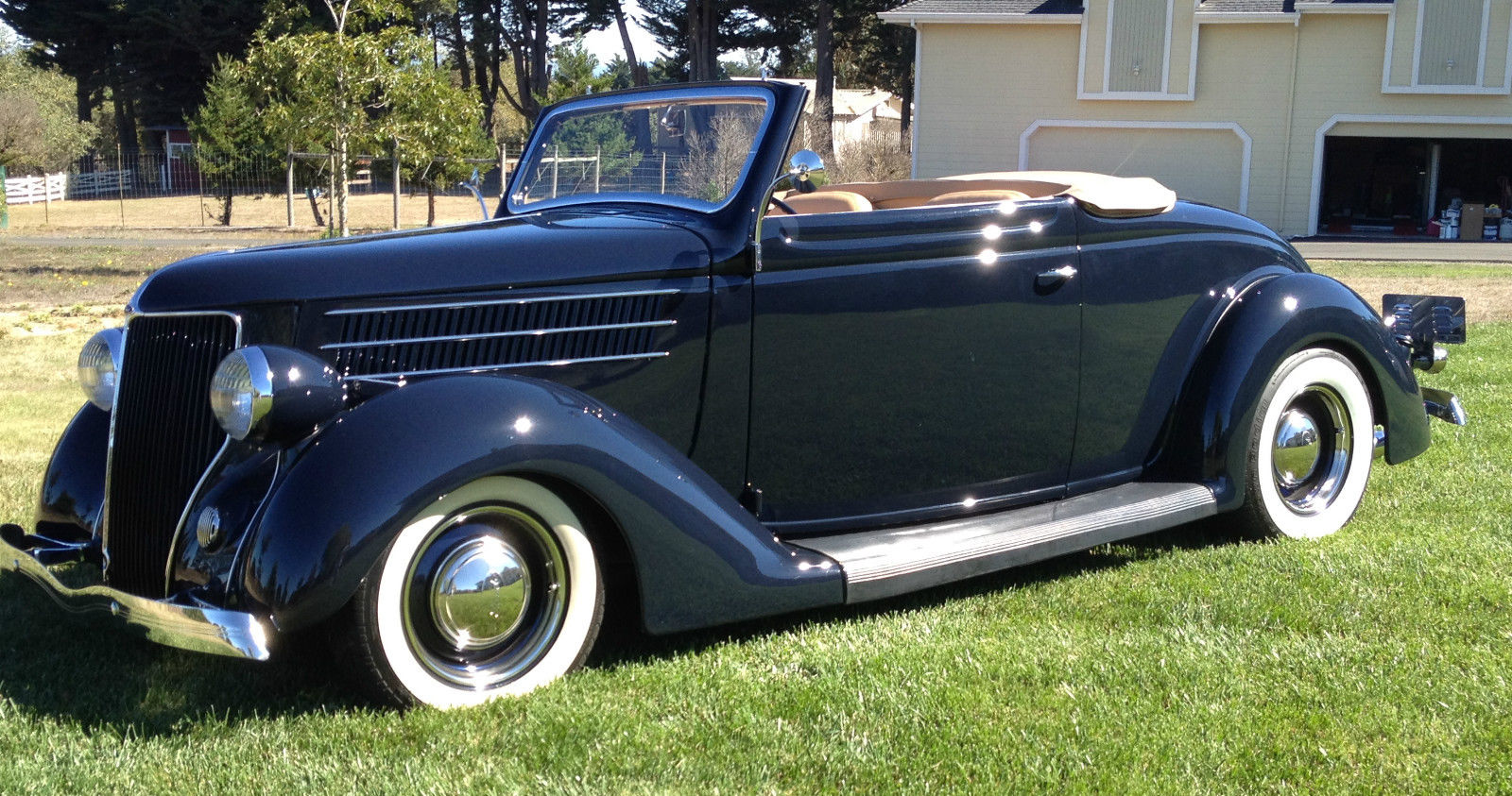 1936 Ford Cabriolet Convertible Dark Blue Frame Off