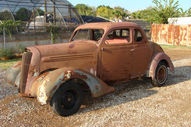 1936 Plymouth Deluxe 5 Window Coupe 1960 S Barn Find Rat