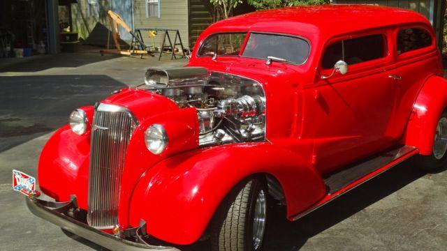 1937 37 Chevy 2dr Sedan 4 Inch Chop 671 Blower 350 700r4