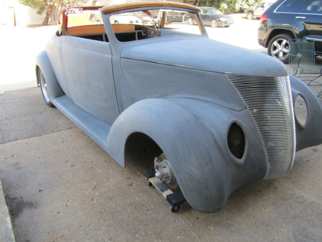1937 37 ford convertible  downs body and chassis