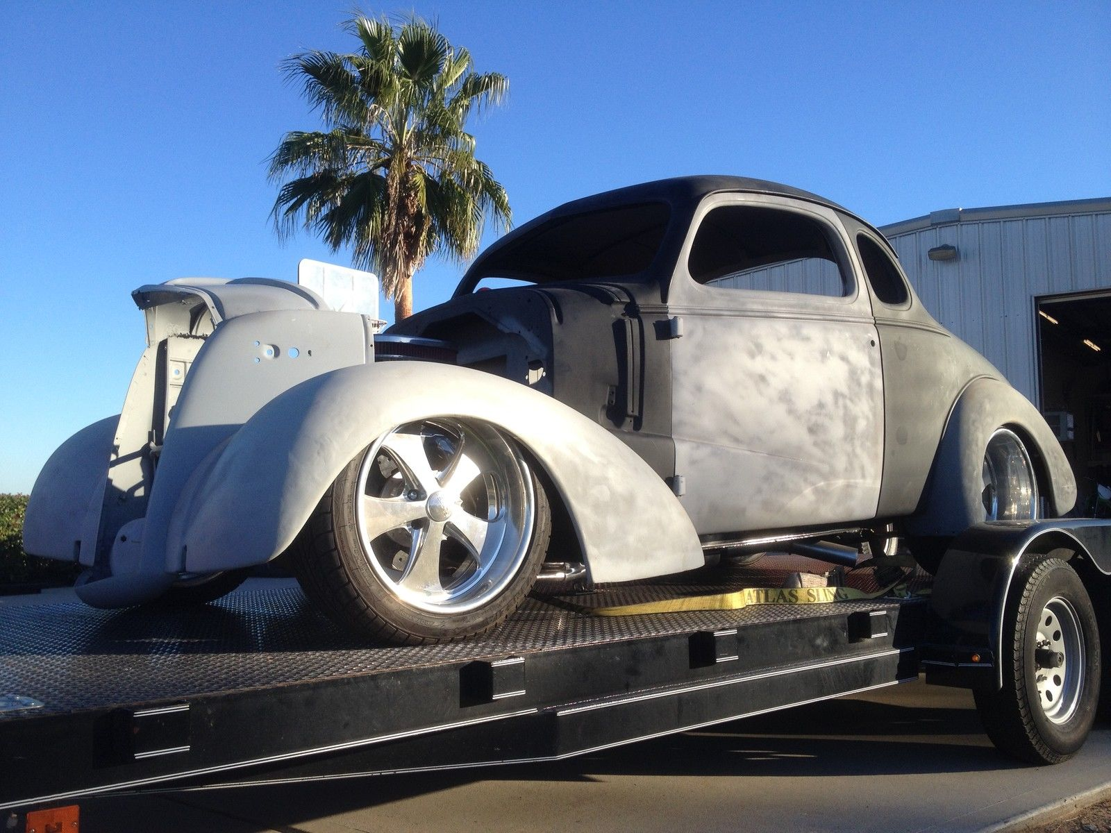 1937 Chevy Coupe 383 Stroker B Amp M Trans Foose Wheels