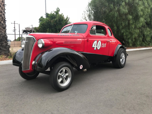 1937 Chevy Coupe Gasser Historic Vintage Race Car / Street Car