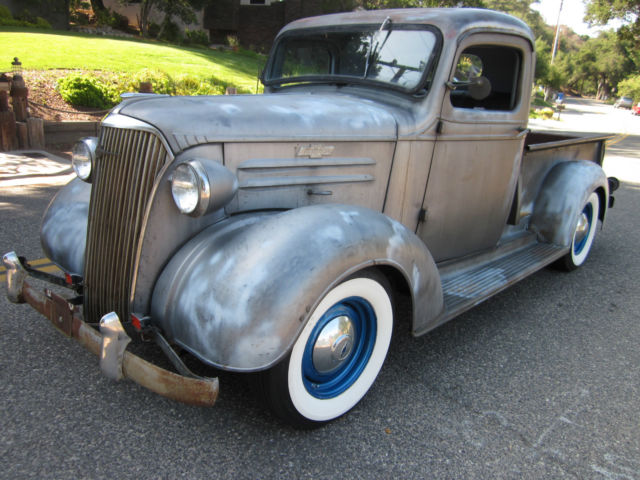 1937 Chevy Pickup Hotrod All Original And Complete W Rebuilt 283 V8