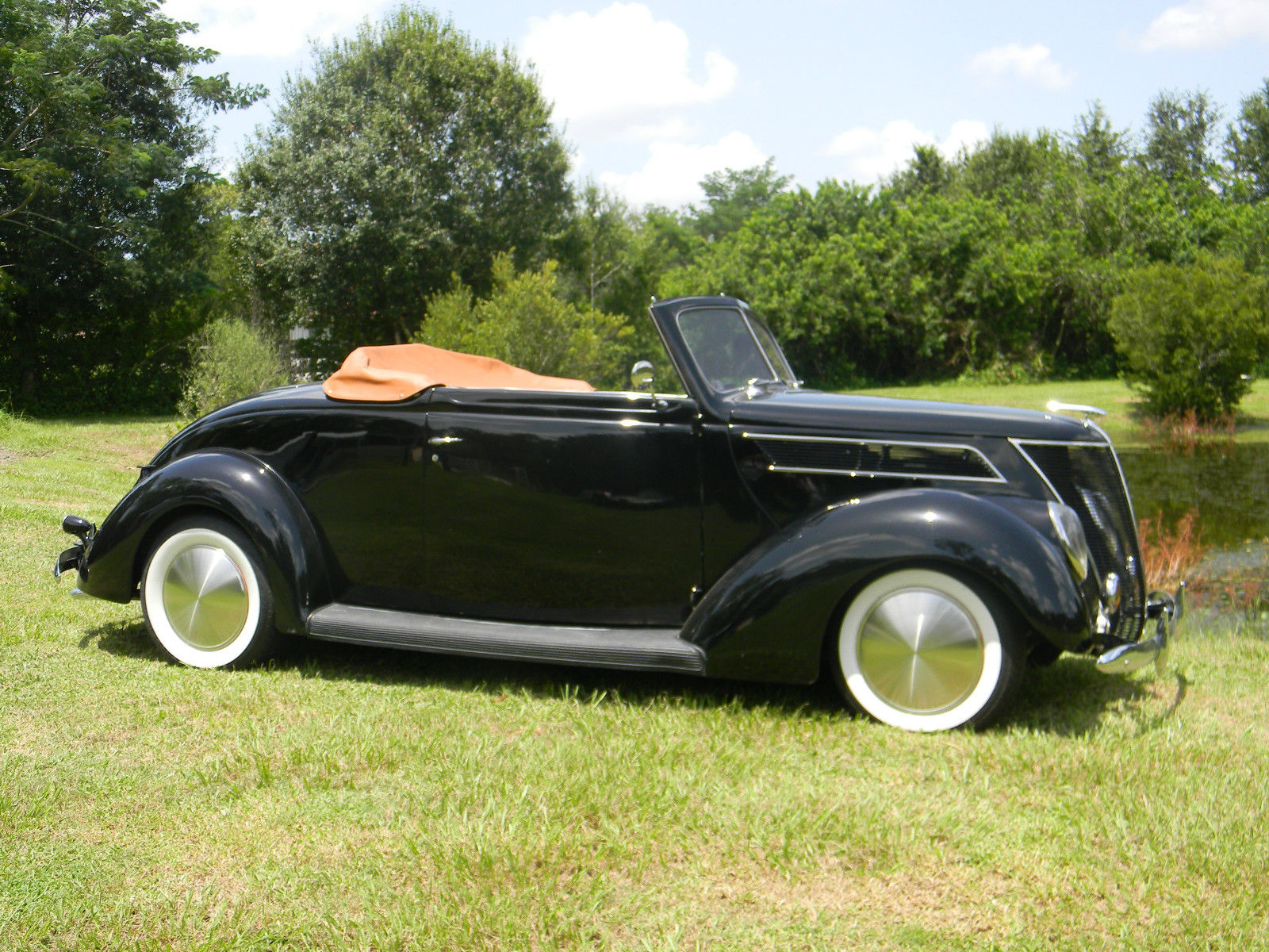 """1937 Ford Cabriolet convertible, """"all steel"""", flathead ..."""
