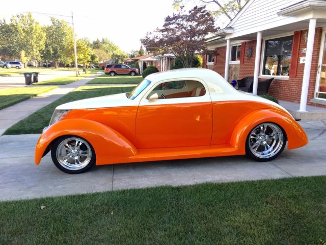 1937 ford custom three window coupe over the top build for 1937 ford 3 window
