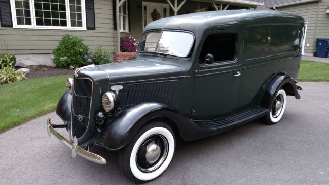 1937 Ford Panel Van Running And Driving Juice Brakes
