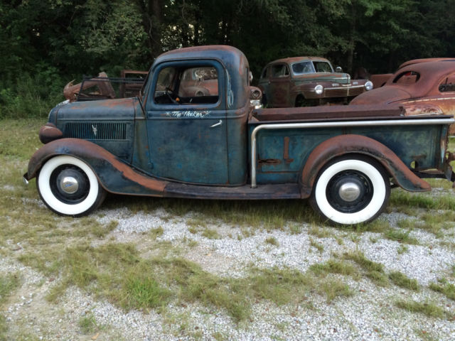 1937 Ford Pick Up Hot Rod Jalopy Traditional Patina Custom