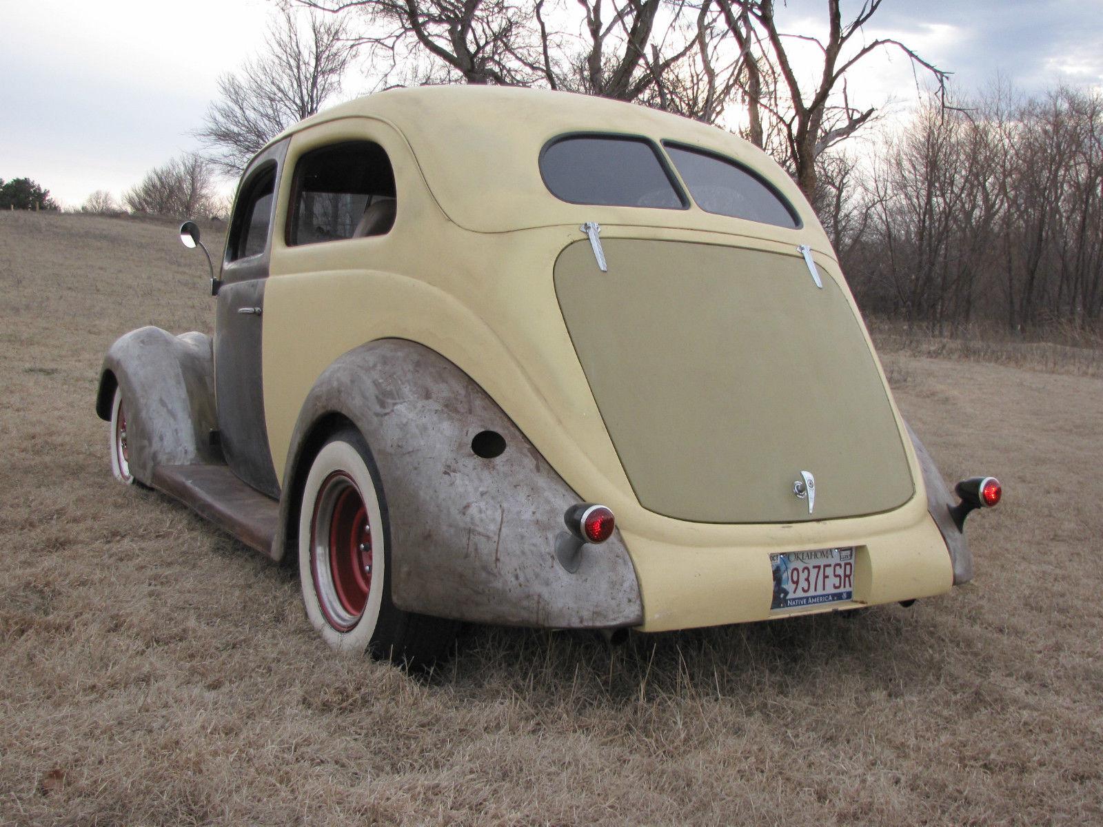 1937 Ford Slantback 2 door sedan running project with the Patina Rat ...