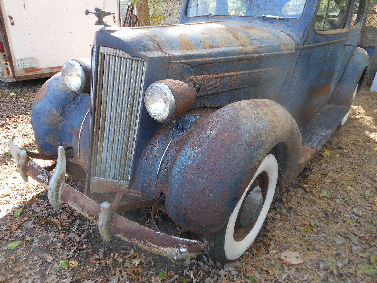 1937 PACKARD 2 DOOR BARN FIND 115 C touring coupe chevy ford