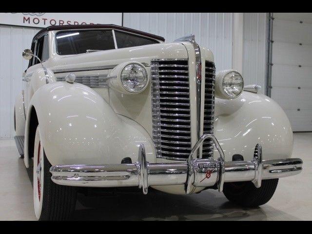 1938 Buick Century Phaeton Convertible 91 Miles White 320