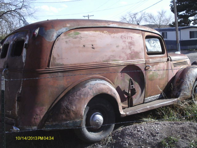 1938 Ford Half Ton Panel Delivery Van Delivery Truck Hot