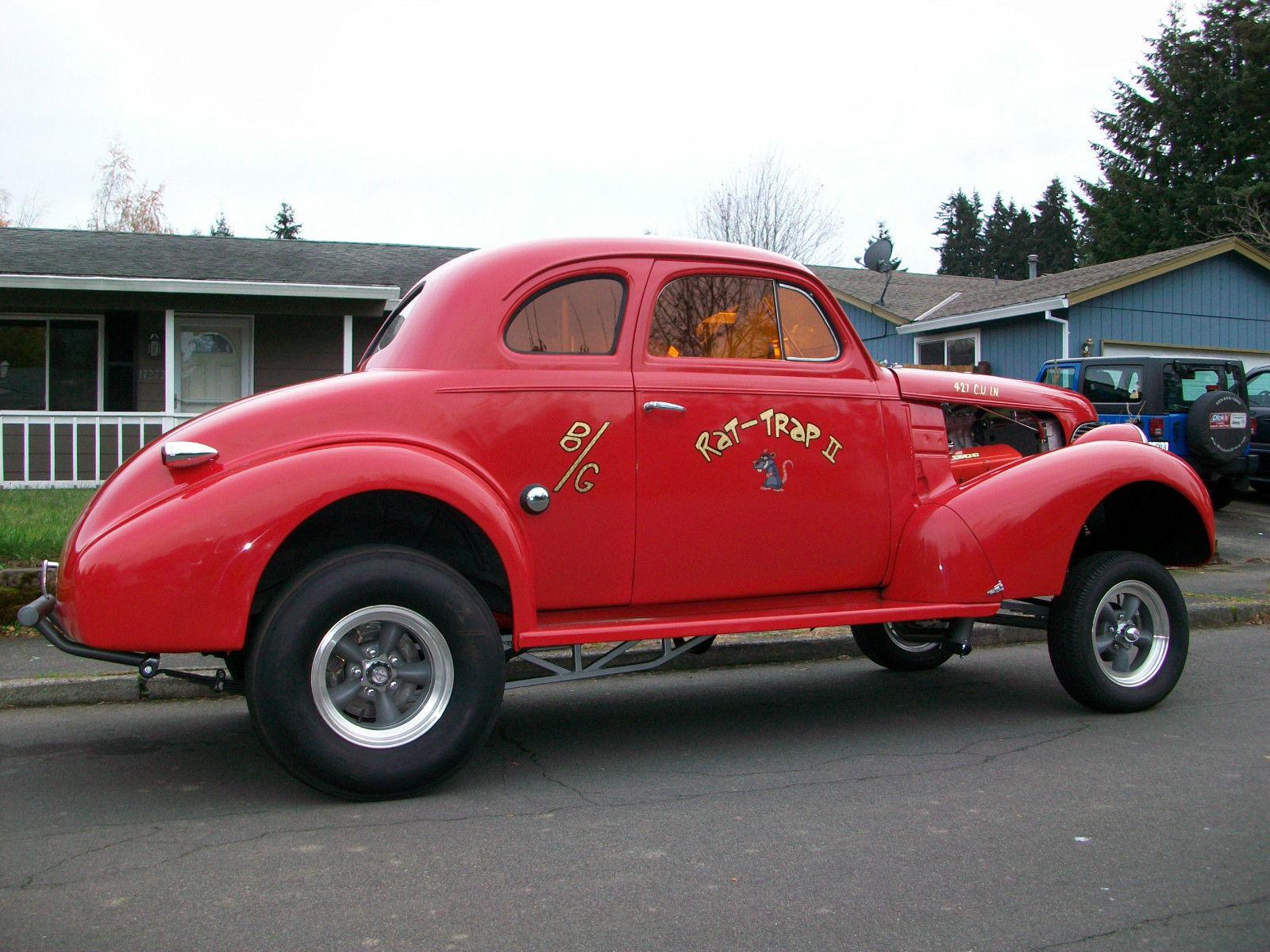1939 Chevrolet Coupe Gasser Hotrod Streetrod Prostreet