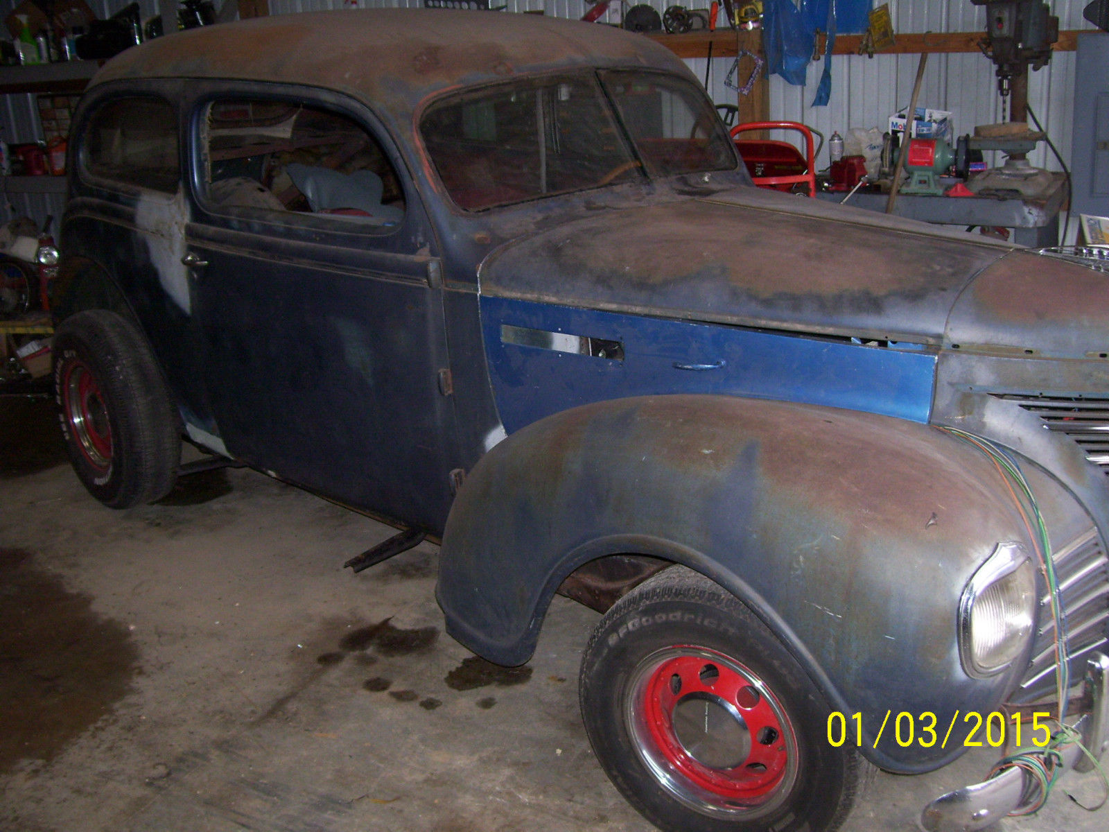 1939 Plymouth 2 Dr Sedan Hot Rod Rat Project Car No Reserve 1941 Coupe