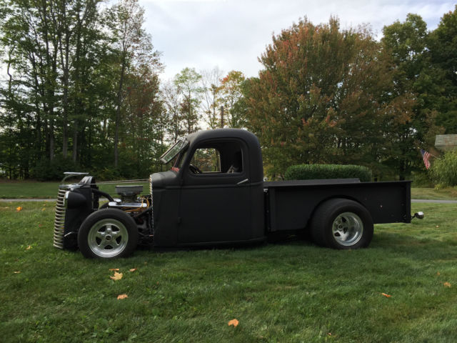 Rat Rod Chevy Truck Tubbed Bagged on Chevy Truck 4 Link Suspension