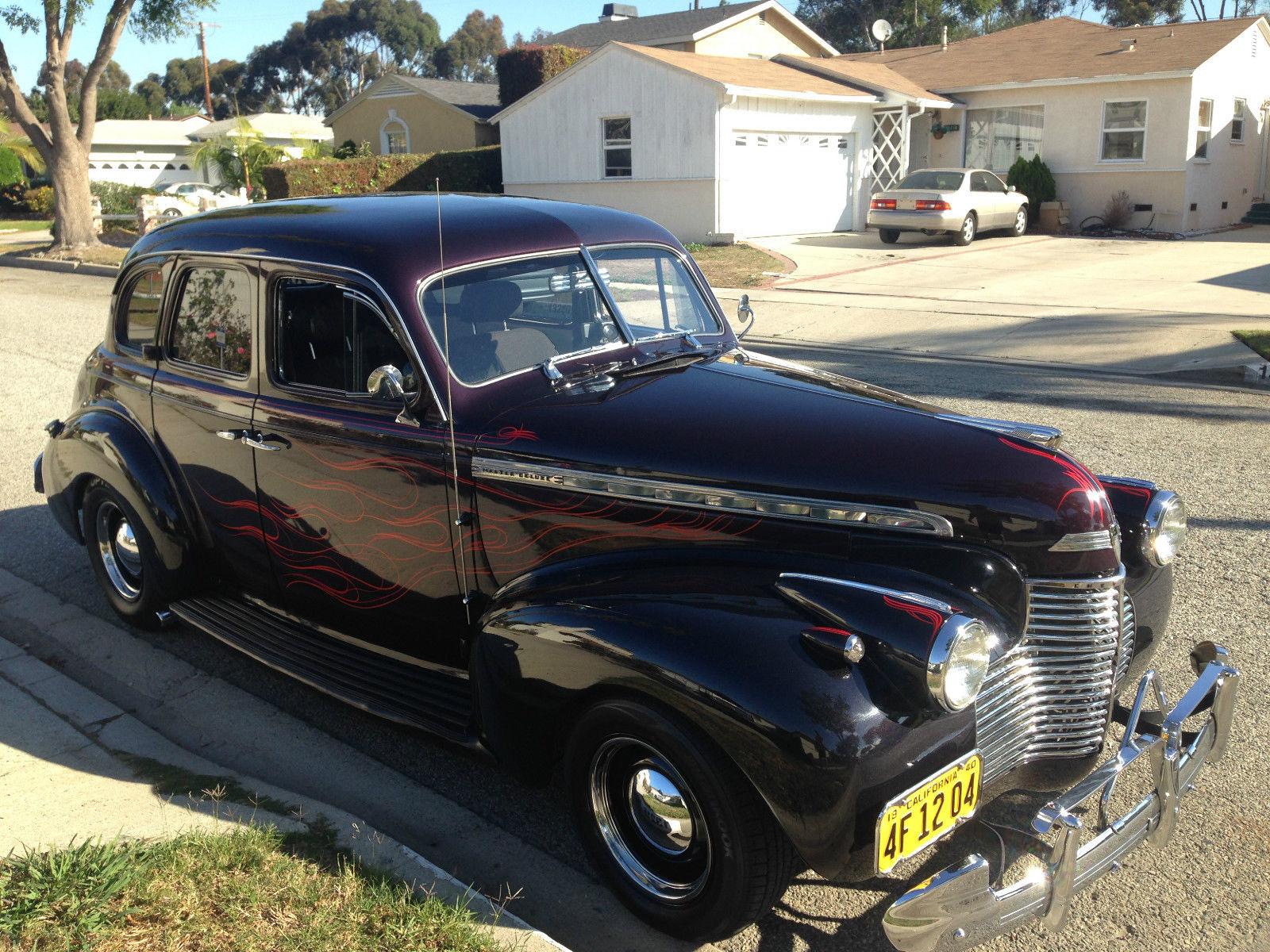 1940 chevy master deluxe 4 door street rod classic for 1940 chevrolet 4 door sedan