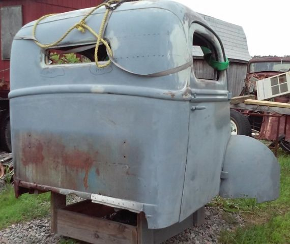 1940 Ford pu with chopped top and front clip-no chassis or