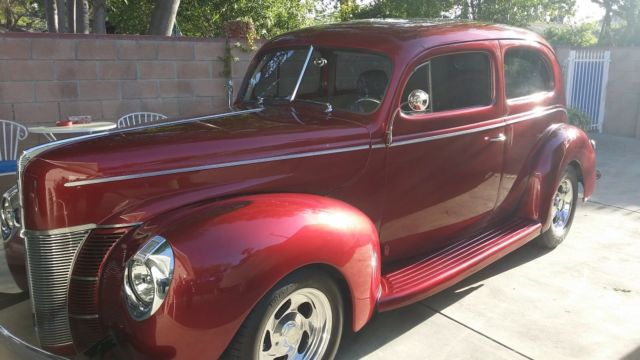 1940 ford tudor deluxe sedan restomad hot rod classic ford other 1940 for sale. Black Bedroom Furniture Sets. Home Design Ideas