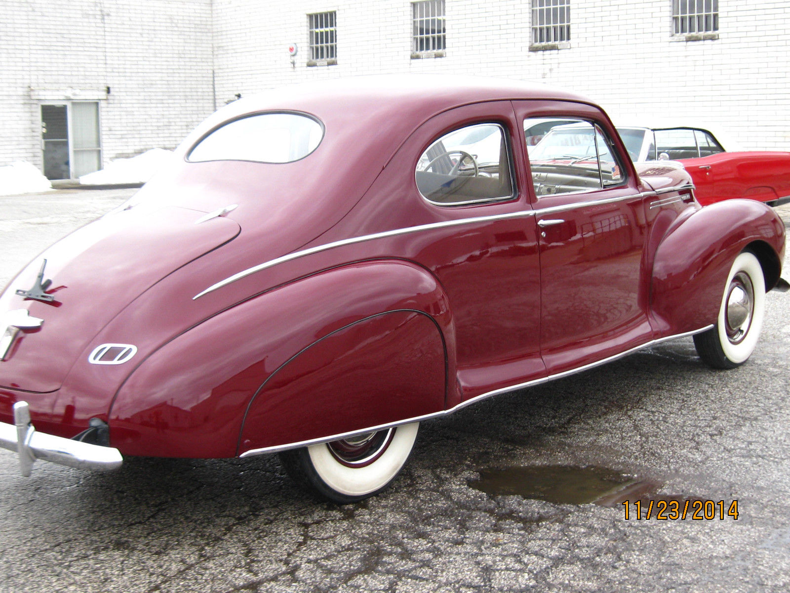 1940 lincoln zephyr coupe recent frame on restoration. Black Bedroom Furniture Sets. Home Design Ideas