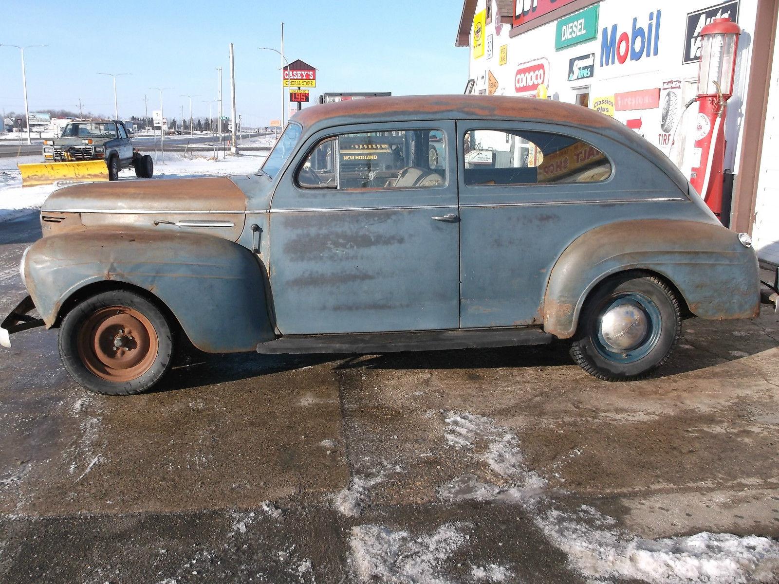 1940 plymouth 2 door sedan garage find 2 owner car for Plymouth garage doors