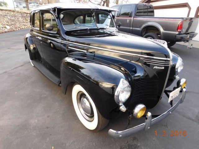 1940 plymouth deluxe roadking sedan dodge desoto classic for 1940 dodge 4 door sedan