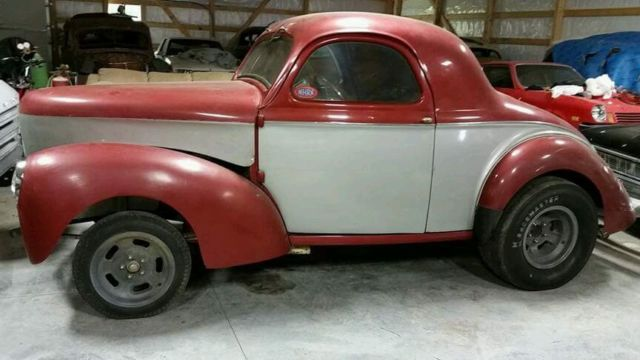 1940 Willys Coupe 1960's Gasser Survivor Time Capsule Rare ...