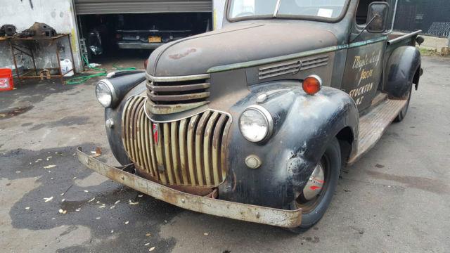 1941 CHEVROLET PICK UP TRUCK HOT ROD ORIGINAL 41 PRE WAR BARN FIND DRIVES GREAT