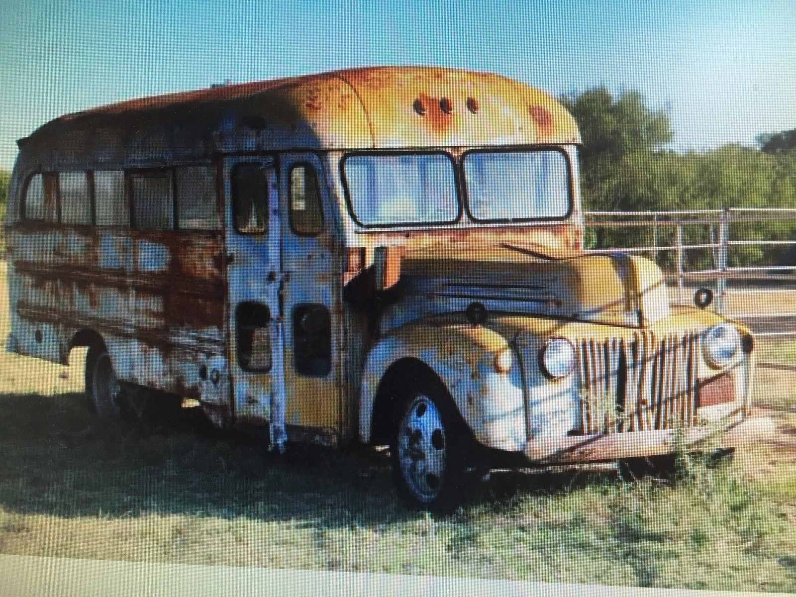 1941 Ford School Bus Short Vintage Camper Hippie Panel Delivery Truck Other