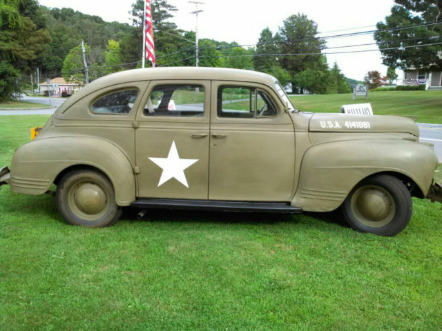 1941 plymouth military staff car p12 army air corps for 1941 plymouth 4 door sedan
