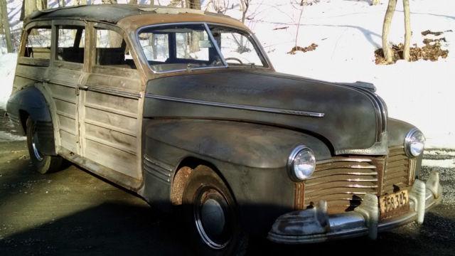 1941 Pontiac Woodie Wagon 4 Door Woody Rare Barn Find 6