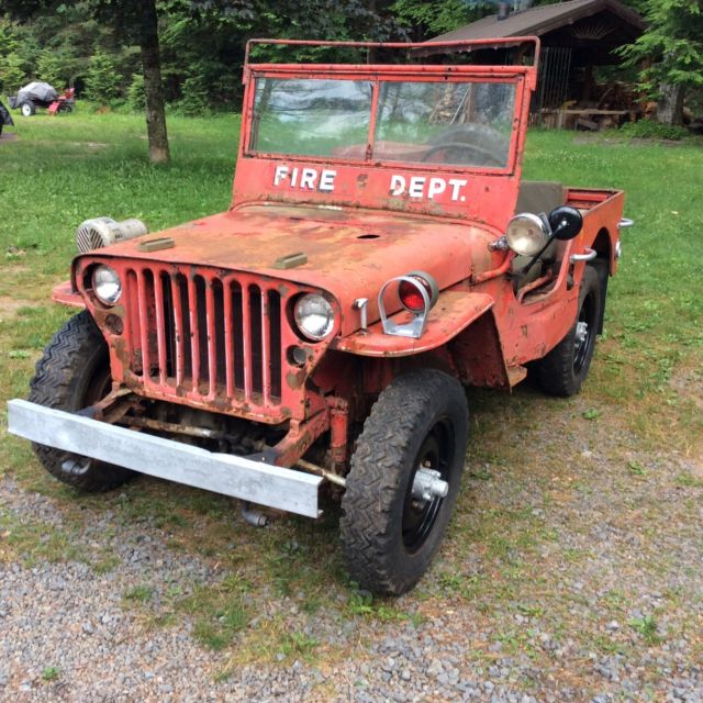 Willys Mb Fire Jeep For Restoration Military Gpw
