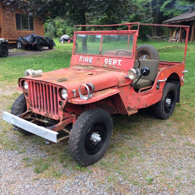1943 Willys Mb Fire Jeep For Restoration Military Gpw Classic