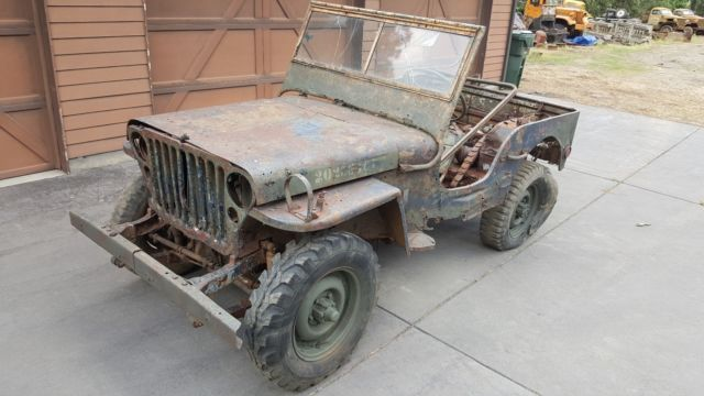 1943 Willys Mb Military Jeep For Restoration Ww2 No