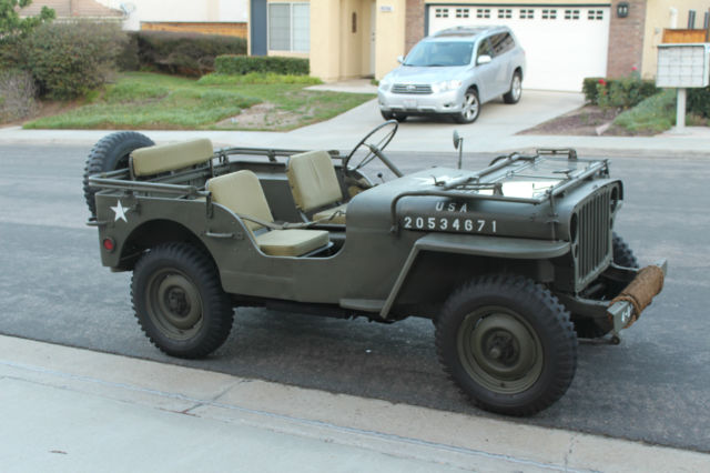 San Diego Jeep >> 1944 Willys MB WW2 Jeep WWII Restored Not Ford GPW 1941 1942 1943 1945 - Classic Willys MB 1944 ...
