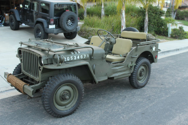 1942 Willys Jeep For Sale >> 1944 Willys MB WW2 Jeep WWII Restored Not Ford GPW 1941 1942 1943 1945 - Classic Willys MB 1944 ...