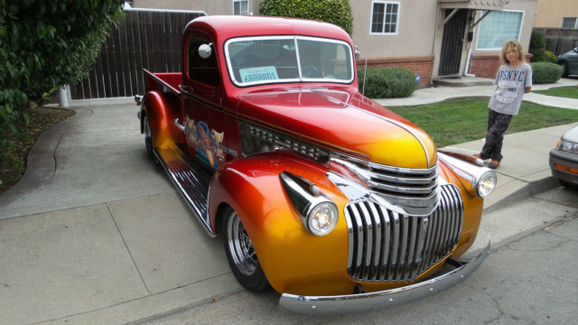 1946 chevrolet truck all steel hot rod art deco grill ex show truck classic chevrolet c k. Black Bedroom Furniture Sets. Home Design Ideas