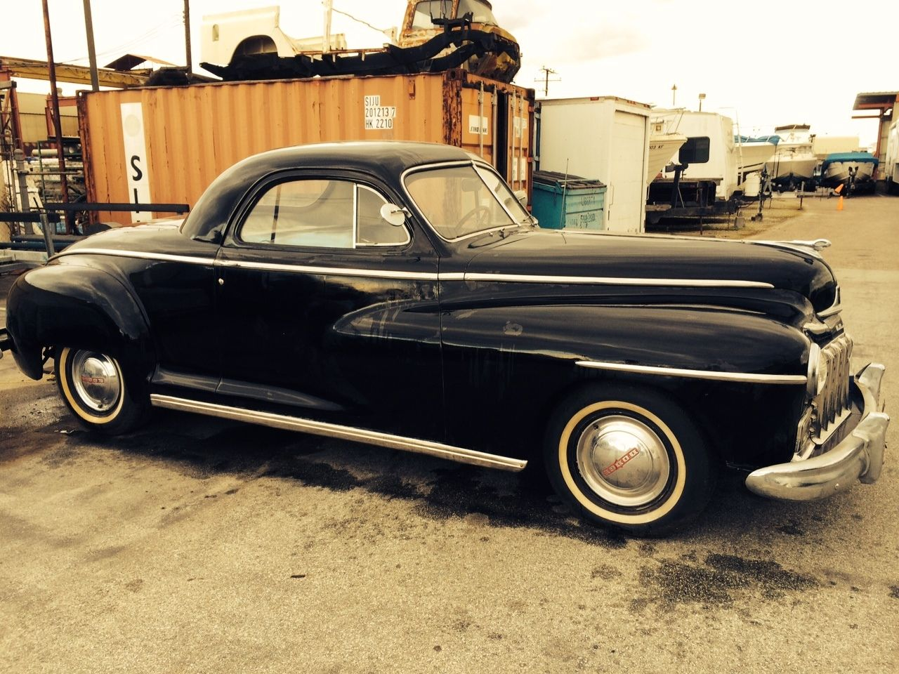 Interior clear glass door - 1946 Dodge Business Coupe Very Good Original Condition