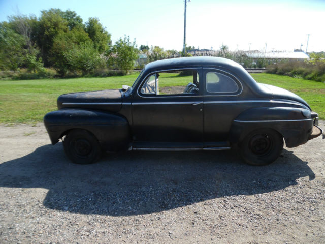 1946 FORD 2 DOOR COUPE FLATHEAD V8 SOLID PROJECT RAT ROD HOT