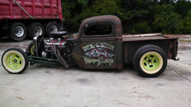 1946 Ford Rat Rod Hot Rod Perfect Patina Truck Big Block Chevy Cheater Slicks Classic Ford Other Pickups 1946 For Sale