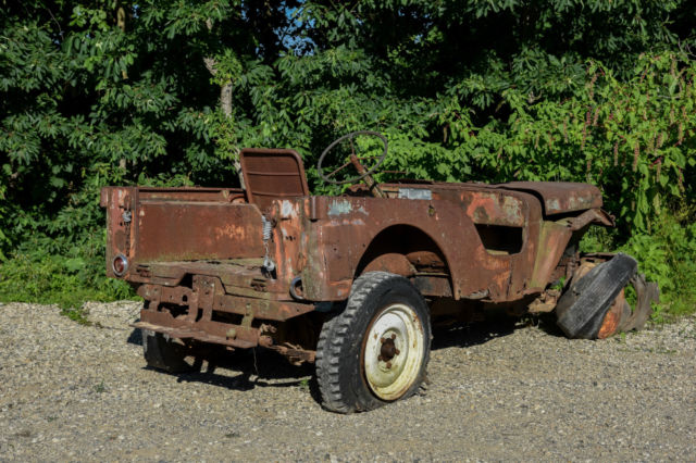 Jeeps For Sale In Indiana 1946 Willys Jeep CJ2A VEC w/ Solid Rims very early ...