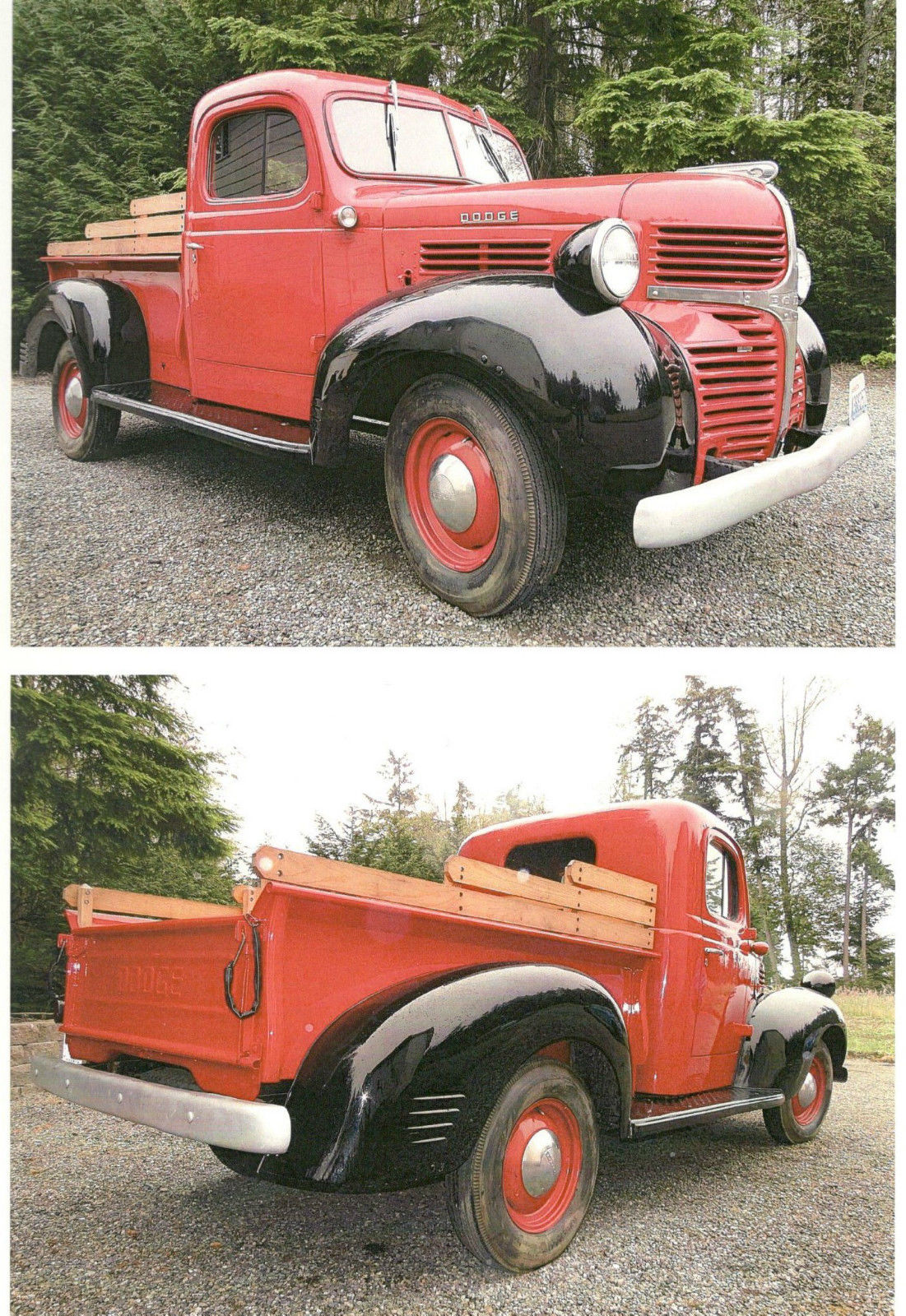 1947 dodge collector pickup truck 1 2 ton frame off restored to original classic dodge. Black Bedroom Furniture Sets. Home Design Ideas