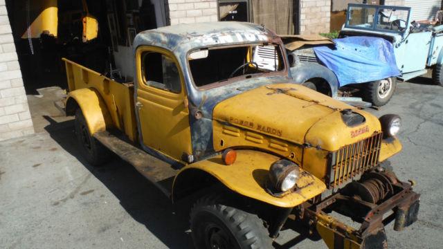 1947 Dodge Wdx Power Wagon 4x4 1 Ton Pickup W Winch