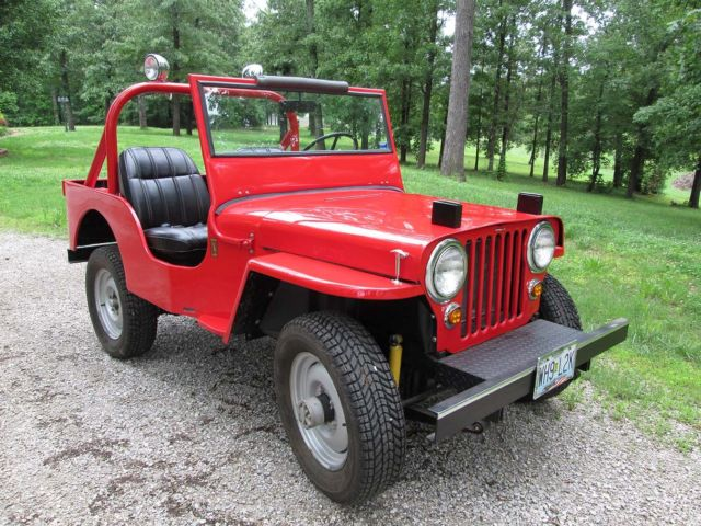 1947 Willys Cj2a Jeep Restored Red Classic Willys Cj2a