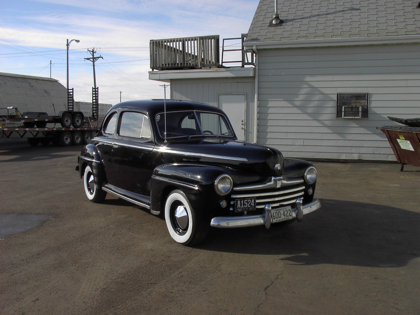 1948 48 Ford Flathead V8 3 Speed Coupe Hot Rod Black New Interior Pickup Other