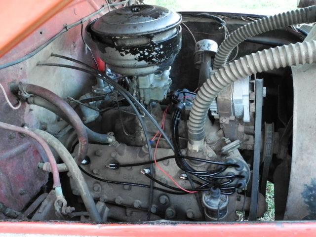Ford F Truck With Running Flathead V Ba Engine Hoist With Good Tires