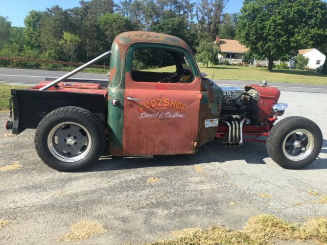 1948 ford f1 4 speed 283 v8 hot rat rod pickup truck