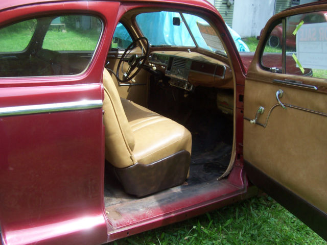 1948 plymouth specal deluxe coupe burgundy with tan vinyl interior cruise car classic plymouth. Black Bedroom Furniture Sets. Home Design Ideas
