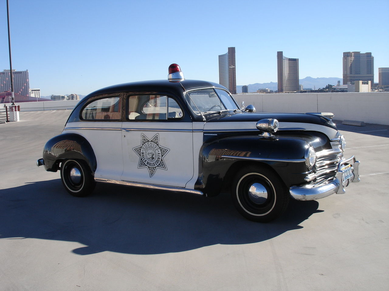 1948 Plymouth Special Deluxe 2 Door Police Patrol Car