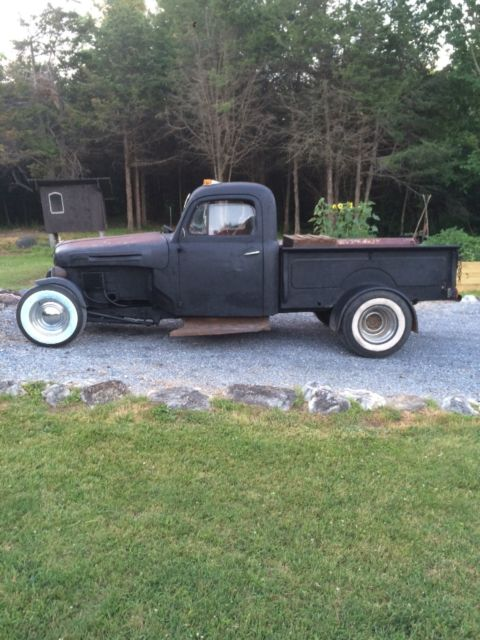 Ford F F Ratrod Rat Rod Diesel Swap Manual Pick Up Truck