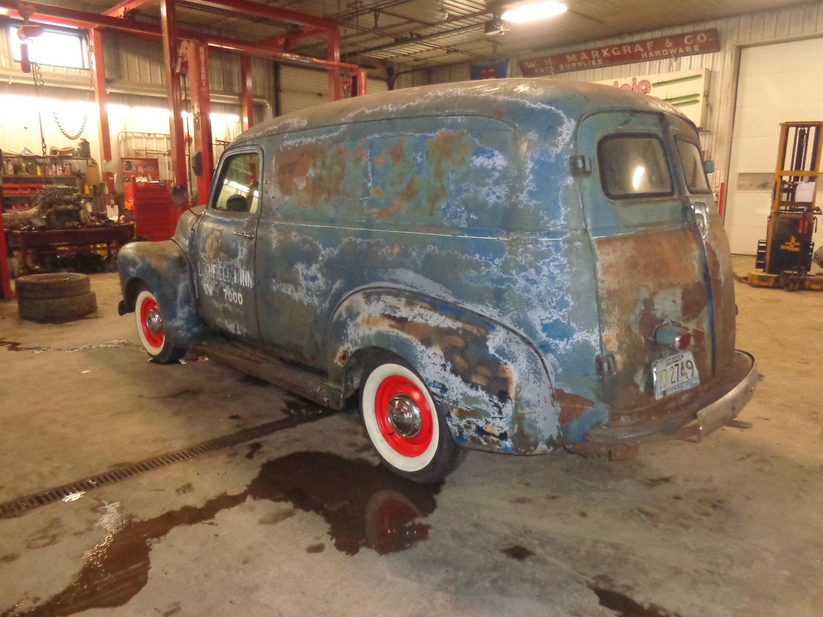 1949- Chevrolet- Panel truck- Rat-Rod- Patina- As found- Barn find ...